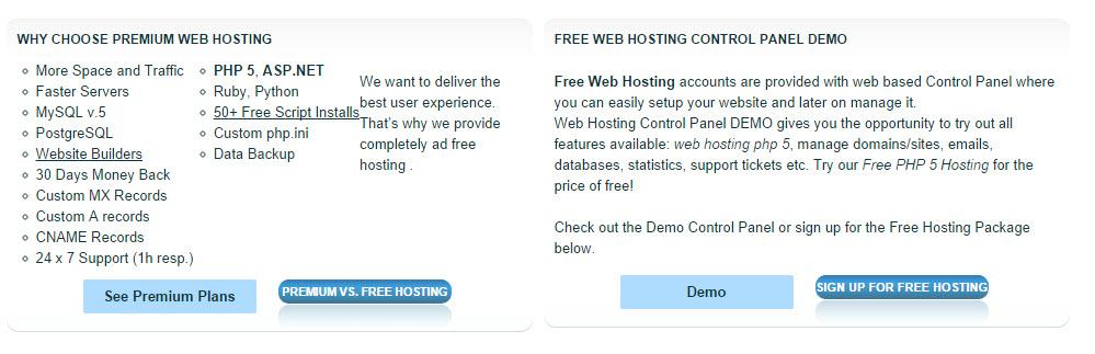 7 hosting free tốt nhất